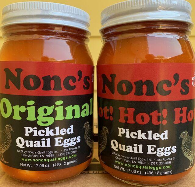 8fa678ec7a00 Nonc's Original & Hot Pickled Quail Eggs 16OZ Certified Cajun American Eggs