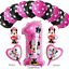 Disney-Mickey-Minnie-Mouse-Birthday-Foil-Latex-Balloons-Blue-Pink-Number-Sets thumbnail 3