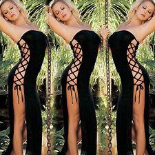 WOMEN CHIC SIDE HOLLOW LINGERIE SLEEPWEAR UNDERWEAR DRESS G-String 8-10