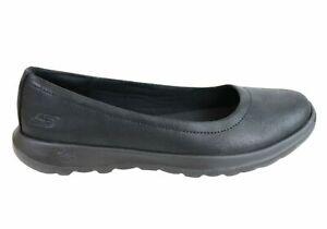 Brand-New-Skechers-Womens-Go-Walk-Lite-Gem-Comfort-Cushioned-Ballet-Flat-Shoes