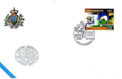 """Und Ausland Weithin Vertraut. San Marino Briefmarken Fein San Marine 2010 Fdc Aasfn Meisterschaft Welt Von Calcium """"süd Africa 2010"""" Um Eine Hohe Bewunderung Zu Gewinnen Und Wird Im In"""