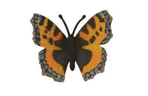 Kleiner Fuchs Schmetterling 7 cm Insekten Collecta 88387