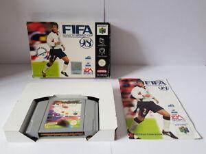 Camino de la Copa Mundial de FIFA 98 N64 Completa Buenas Condiciones
