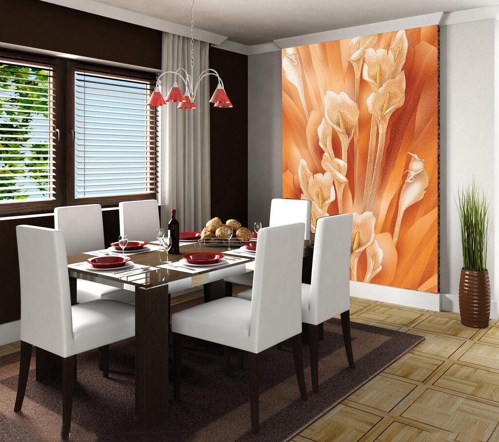 3D Orange Flowers 047 Wall Paper Wall Print Decal Wall AJ WALLPAPER CA