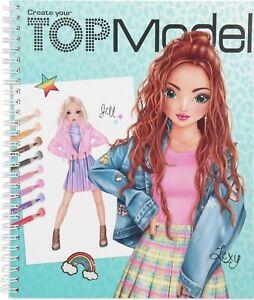 depesche top model create your top model colouring book 11065 | ebay