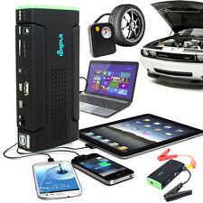 Heavy Duty Portable Battery Power Bank Jump Starter w/ Tire Compressor 12800mAh