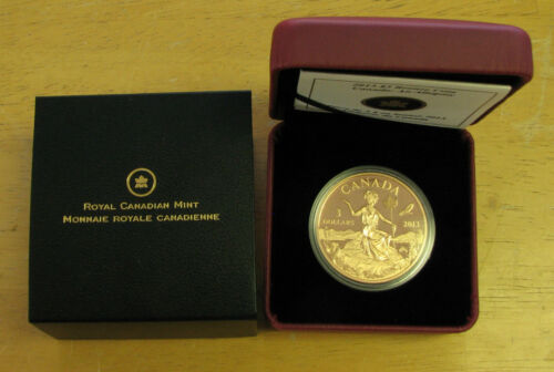 2013 Proof $3 Miss Canada   An Allegory bronze Canada