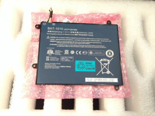 New OEM Acer Iconia A500 10S16U 10S16C Tablet BAT-1010 24WH 3260mAh 7.4V Battery