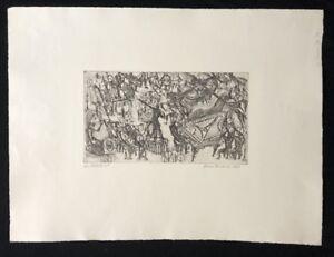 Hilmar Friedrich, Arpa Concerto, acquaforte, 1961, a mano firmata e datata