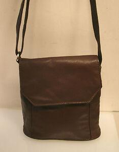 2816fde01ab88 Das Bild wird geladen VERA-PELLE-Tasche-schoene-Handtasche -weiches-Leder-braun-