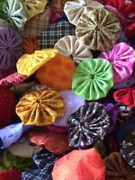 100 2 Inch Assorted Lovely Selection Of Fabric Yo Yos.