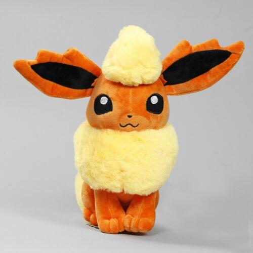 "Genuine Takara Tomy Pokemon N-45 Flareon 12/"" Plush Doll Toy Japanese Import"