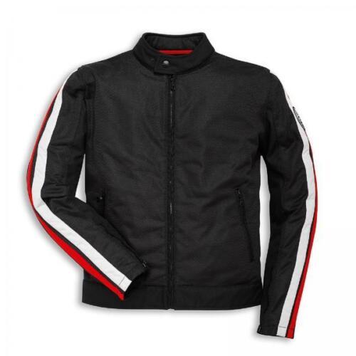 Ducati Breeze Herren Stoffjacke schwarz Retro Motorradjacke NEU