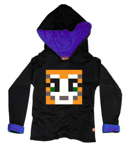 BLACK KIDS BOYS GIRLS STAMPYLONGNOSE MR STAMPY CAT  HOODY HOODIE