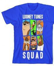 WB LOONEY TUNES Boy/'s Bugs Bunny Short Sleeve Slam Dunk Shirt BLACK Large NEW