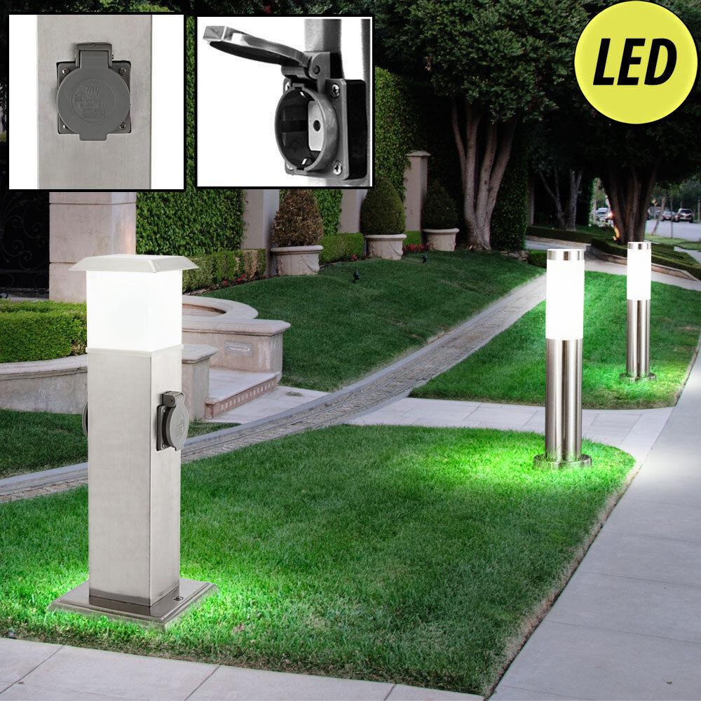 3er Set LED De Acero Inoxidable 2-posición zócalos Exterior Iluminación Luces de soporte de ruta