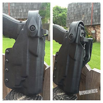 Deep Concealment Kydex Holster for Glock w/lght Level 2 /Blackhawk Paddle