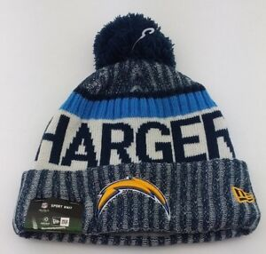 a183728a219 Los Angeles Chargers Cuffed Knit Pom Beanie New Era NFL Winter Hat ...