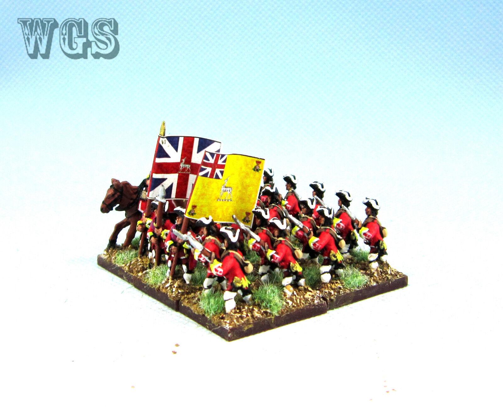 15mm Syw Seven Years War un Pintado británico Mosquetero adavancing Ba14