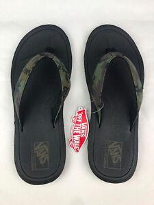 Details about VANS Nexpa Synthetic Flip Flops Sandals Mens Sz 12 Camo Black Green, VN0A45JBVFY
