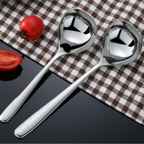 Stainless Steel Soup Spoon Long Handle Teaspoon Serving Spoons Kitchenware D