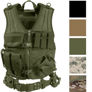 Image is loading Tactical-Vest-Military-Combat-MOLLE-Airsoft-Painball-Army- f9fdfd274f9