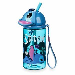 Disney-Authentic-Stitch-Flip-Top-Water-Bottle-8oz-Drink-Cup-Lilo-amp-Stitch-New