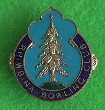 Rhiwbina Bowling Club Bowls Bowl Bowling Enamel Pin Badge Cardiff Wales Welsh