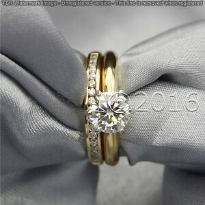 Classic-1-85-CT-Off-White-Yellow-Moissanite-Ring-Wedding-925-Silver-Ring-T08