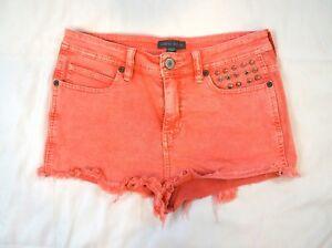 d120db0ad6ada6 Kendall & Kylie High Rise Size 9 Studded Pink Cut Off Denim Stretch ...