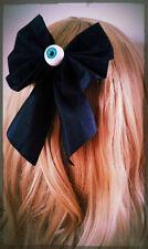 Large Pastel Goth Eyeball Bow Hair Clip. Gothic. Lolita. Creepy Cute. Dark.