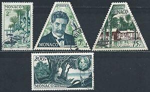 Monaco-1955-Lot-Dr-Albert-Schweitzer-N-412-a-414-PA-59-Oblit-Used