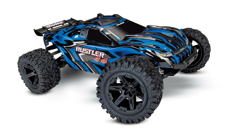 TRAXXAS 67064-1 B RUSTLER Model car Electrical 4x4 Brushed bluee