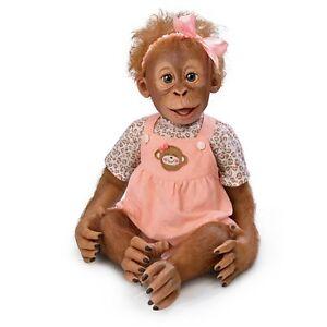 Momoko-Realistic-Baby-Girl-Monkey-Doll-by-Ashton-Drake-NRFB