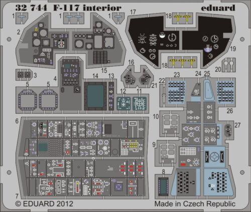 Painted Self AD EDU32744 EDUARD MODELS 1//32 Aircraft F117 Interior for TSM