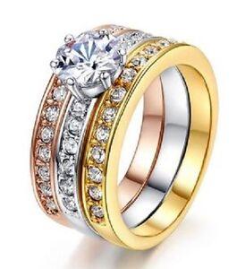 18K-GOLD-EP-2-5CT-DIAMOND-SIMULATED-3-RING-ENGAGEMENT-SET-RING-size-6-9-u-choose