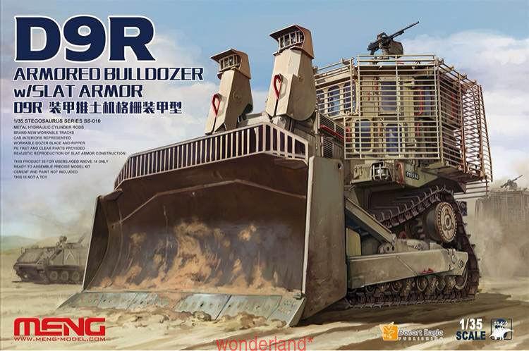 Meng Model 1 35 SS-010 D9R Doobi Armored bulldozer w Slat Armor MNGSS-010