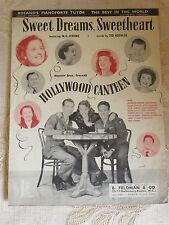 Antique Sheet Music Of Sweet Dreams, Sweetheart, By M.K. Jerome/T. Koehler- 1944