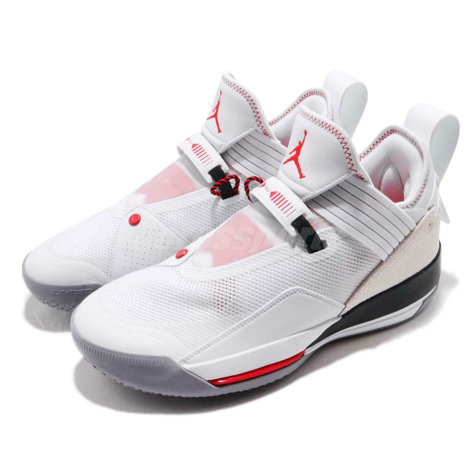 Nike Air Air Air Jordan XXXIII SE PF 33 blanco Gym rojo Men Basketball zapatos CD9561-106 b49a11