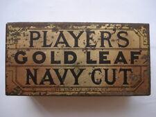 C1900 VINTAGE PLAYERS GOLD LEAF NAVY CUT TOBACCO TIN