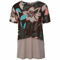Womens Ladies summer top Double layer patterns print Tunic top Size S-M & Large