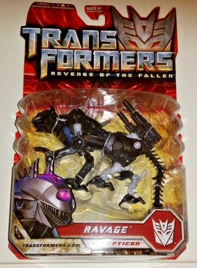 NEW SEALED Hasbro Transformers Revenge of the Fallen Deluxe Ravage Snapping Jaw