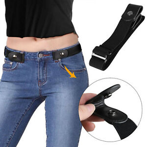 Men Women Buckle Free Elastic Invisible Waist Belt For Jeans No Bulge Hassle Hot