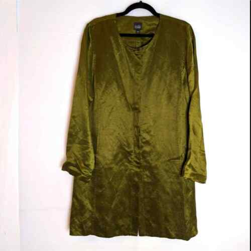 Eileen Fisher Linen Silk Jacket Lagenlook Size L