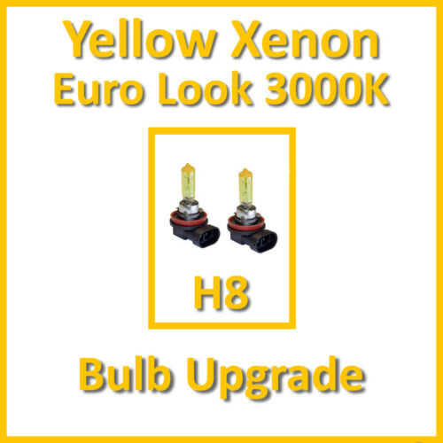 Warm White 3000K Yellow Xenon Headlight Bulbs Front Fog Light H8 35W x2
