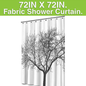 Image Is Loading Mildew Resistant Shower Curtain Fabric 72x72 Tree Design