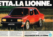 PUBLICITE ADVERTISING 104  1980  VOLKSWAGEN  la lionne  JETTA  ( 2pages)