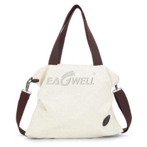 Large Pocket Casual Women Shoulder Crossbody Handbags Canvas Messenger Bags GIFT