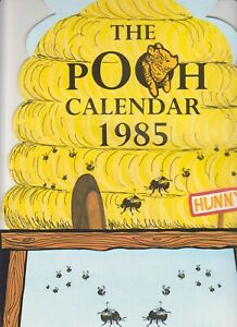 The-Pooh-Calendar-Book-1985-Port-free-Ours-calendrier-miel-ruche