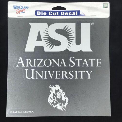"""NCAA Team Logo Die Cut Car Sticker  Decal 8/"""" x 8/"""" White Pick Team"""